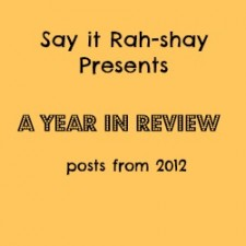 A Look Back at 2012