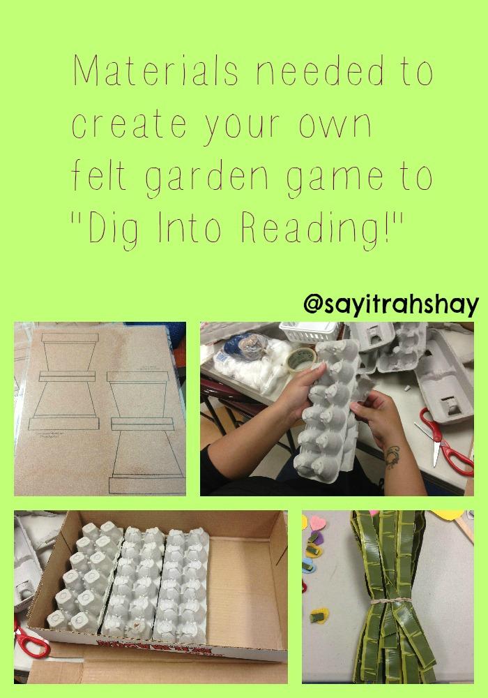 Materials to create a felt garden