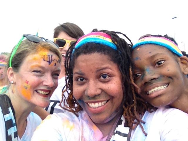 Happy people at The Color Run