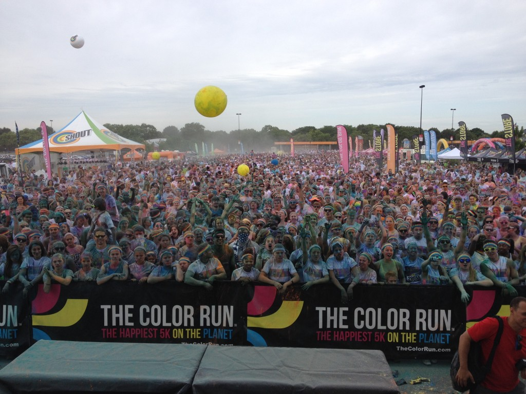 The runners from The Color Run