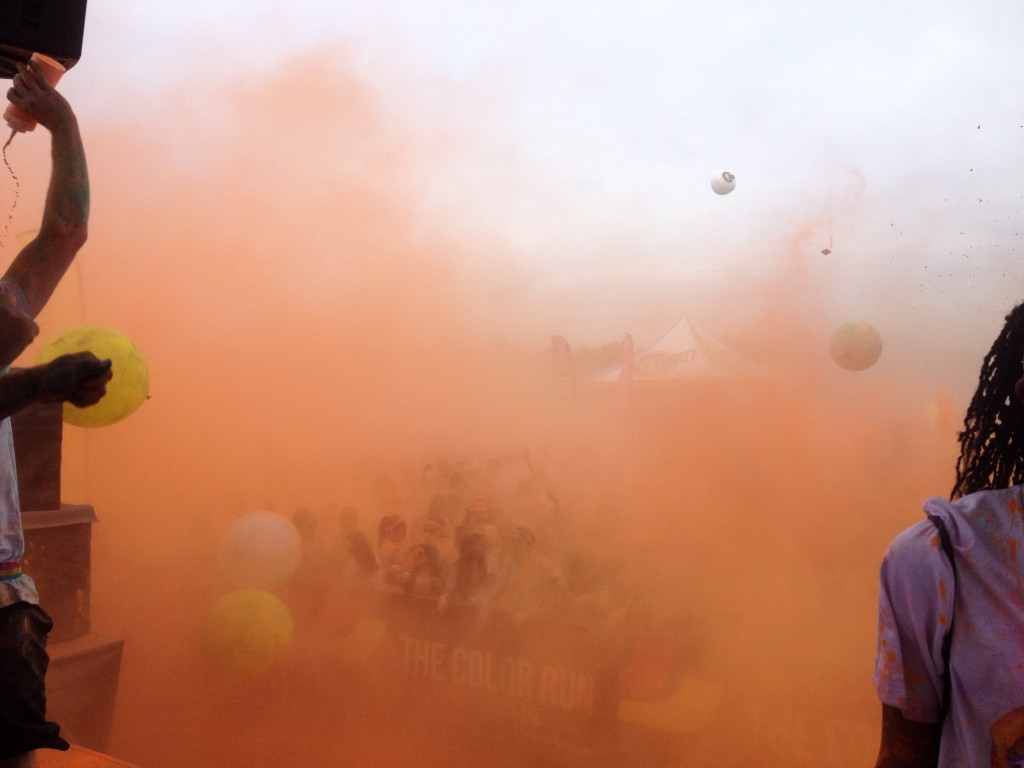 The Color Run Paint explosion