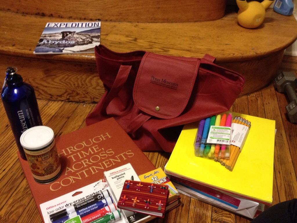 Lots of supplies for my library with a near bag!