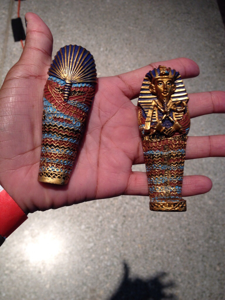 A replica of the artifacts we would see