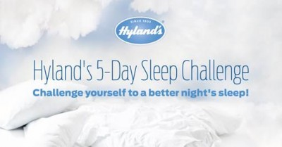 Get some Zzzz's with Hyland's 5 Day Sleep Challenge #giveaway