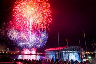When America Set Sail: Fireworks and Tall Ships