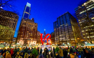 Christmas Village Returns to Love Park