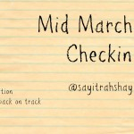 Mid March Check-in