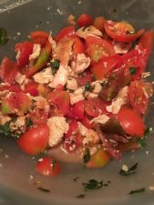 Recipe Recreation: Chicken, Tomato and Basil Salad