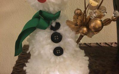 Make a PomPom Snowman