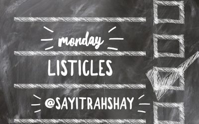 Monday Listicles: Now What?